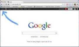 Google+ link on the Google menu bar