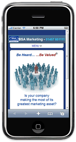 BSA Marketing website goes mobile