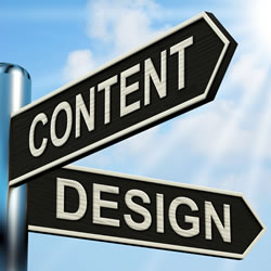 The balance between Design and Content